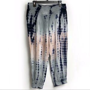 Rewash Junior Sz L Grey, Blue, Pink Tie Dye Jogger